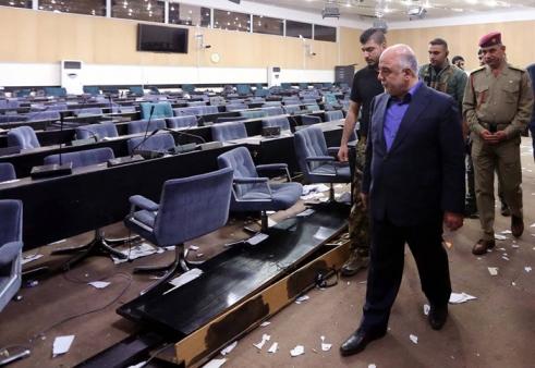 (تصاویر) بازدید العبادی از پارلمان عراق