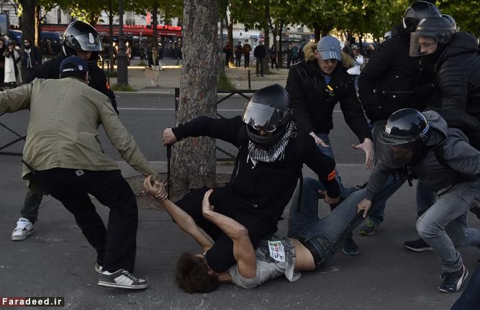 (تصاویر) آشوب در پاریس