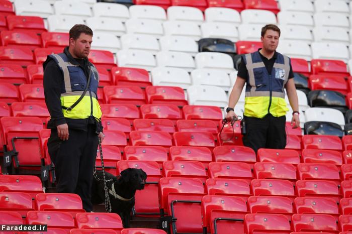 (تصاویر) بمب تقلبی بازی منچستر را لغو کرد