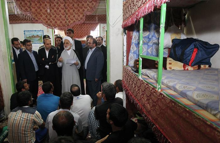 (تصاویر) بازدید آملی لاریجانی از کهریزک