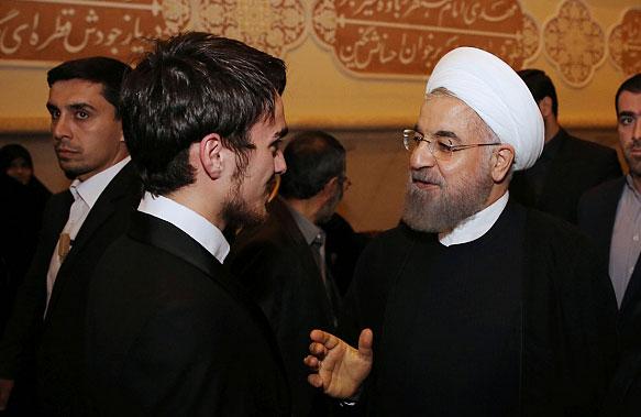 (تصویر) خوش و بش روحانی با پسر سیدحسن خمینی