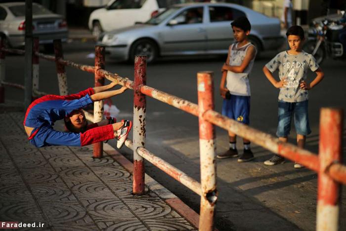 (تصاویر) کودک عنکبوتی غزه
