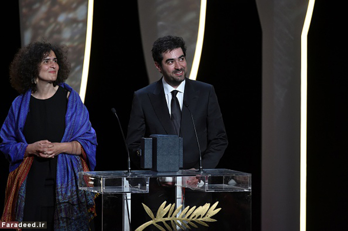(تصاویر) شهابحسینی لحظه دریافت نخل طلا