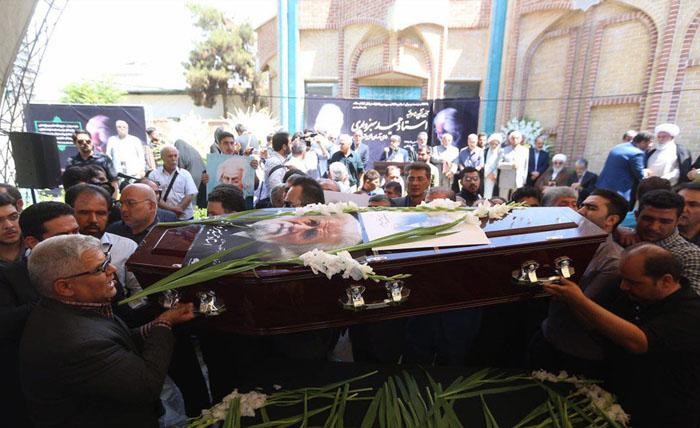 (تصاویر) مراسم تشییع حمید سبزواری