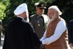 (تصاویر) استقبال روحانی از نخست وزیر هند