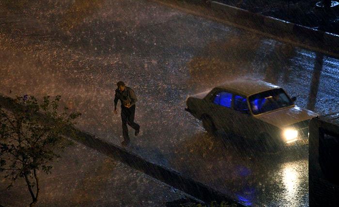 (تصاویر) بارش تگرگ تبریز را غافلگیر کرد
