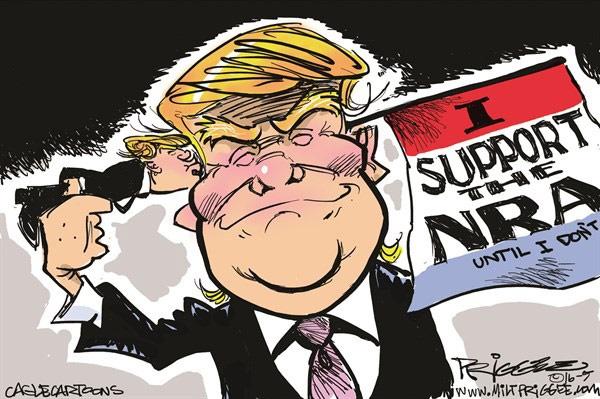 (کاریکاتور) ژست جدید ترامپ!
