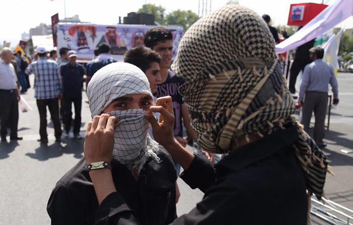 گروه تلگرامی کاراته در حاشیه حضور مردم در راهپیمایی روز قدس