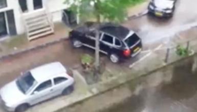 فیلم/ سقوط خودرو در کانال آب هنگام تعقیب و گریز پلیس