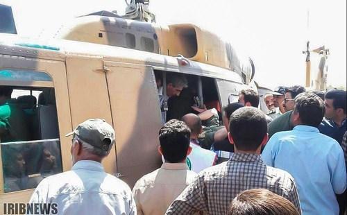 (تصویر) خلبان جنگنده ارتش لحظاتی پس از سقوط