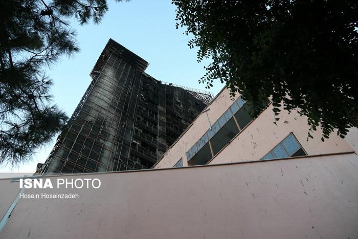 (تصاویر) برج سلمان مشهد پس از آتشسوزی