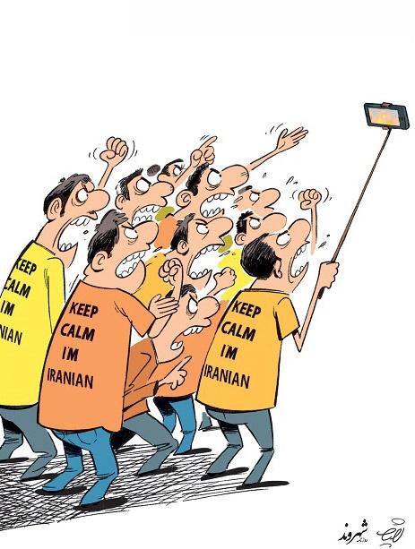(کاریکاتور) حمله جهانی ایرانیها به اینستاگرام