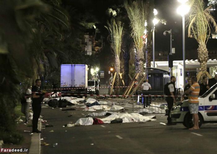 (تصاویر) حمله تروریستی با کامیون در فرانسه