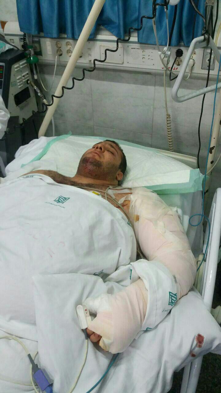 تصادف شدید وزنه بردار ملی پوش ایران