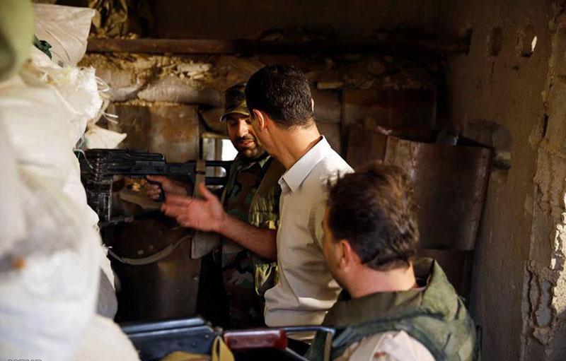 (تصاویر) بشار اسد در خط مقدم نبرد