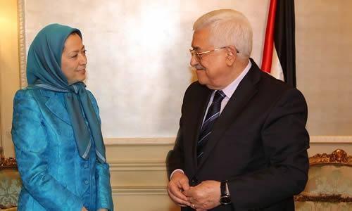 رئیس فلسطین و مریم رجوی, دیدار مجاهدین خلق با رهبر فلسطین,دیدار مریم رجوی با محمودعباس