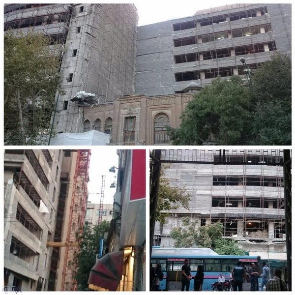 تخریب ساختمان قجری روزنامه اطلاعات؟