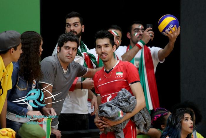 (تصاویر) حواشی پیروزی والیبال ایران بر مصر