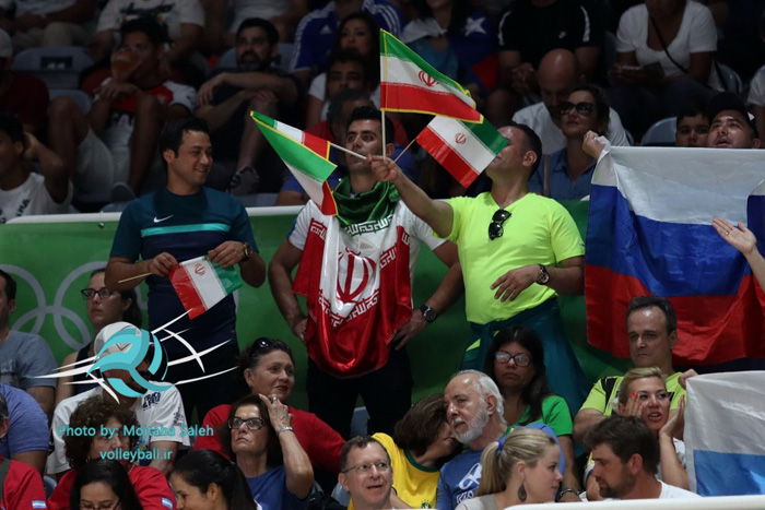(تصاویر) حواشی دیدار والیبال ایران و روسیه