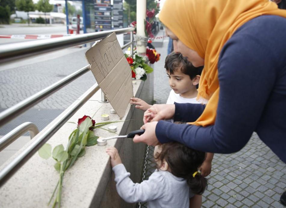 (تصاویر) ادای احترام به قربانیان حمله مونیخ