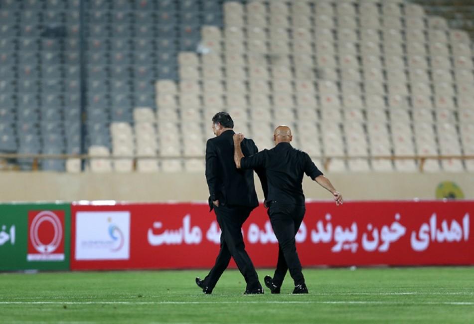 (تصاویر) حواشی رویارویی منصوریان و دایی