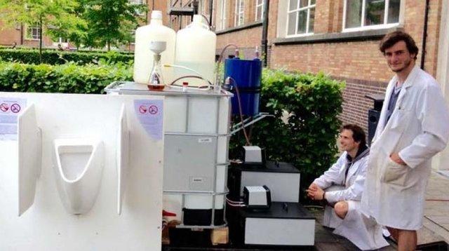 (تصاویر)تولید آب آشامیدنی از ادرار!!