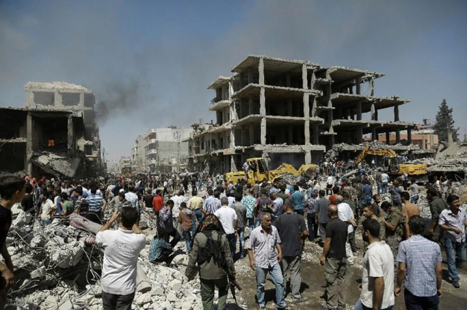 (تصاویر) انفجار مهیب در قامشلی سوریه