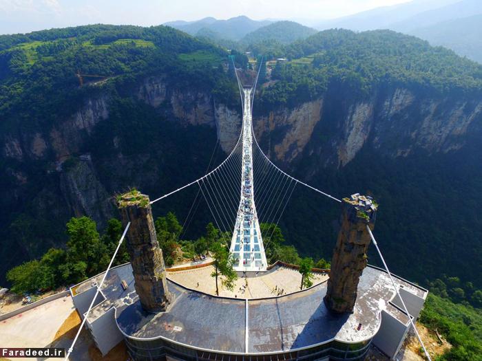 طولانیترین و مرتفعترین پل شیشهای جهان افتتاح شد
