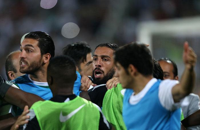 (تصاویر) درگیریها در پایان بازی ایران و قطر