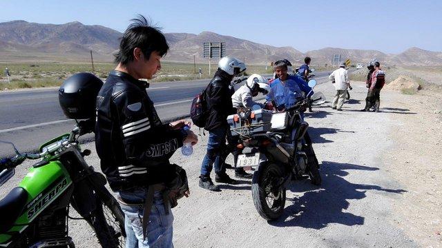 (تصاویر) ساموراییهای موتورسوار در ایران