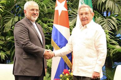 (تصاویر) سفر ظریف به کوبا