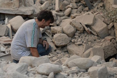 (تصاویر) زمین لرزه 6.2 ریشتری در ایتالیا