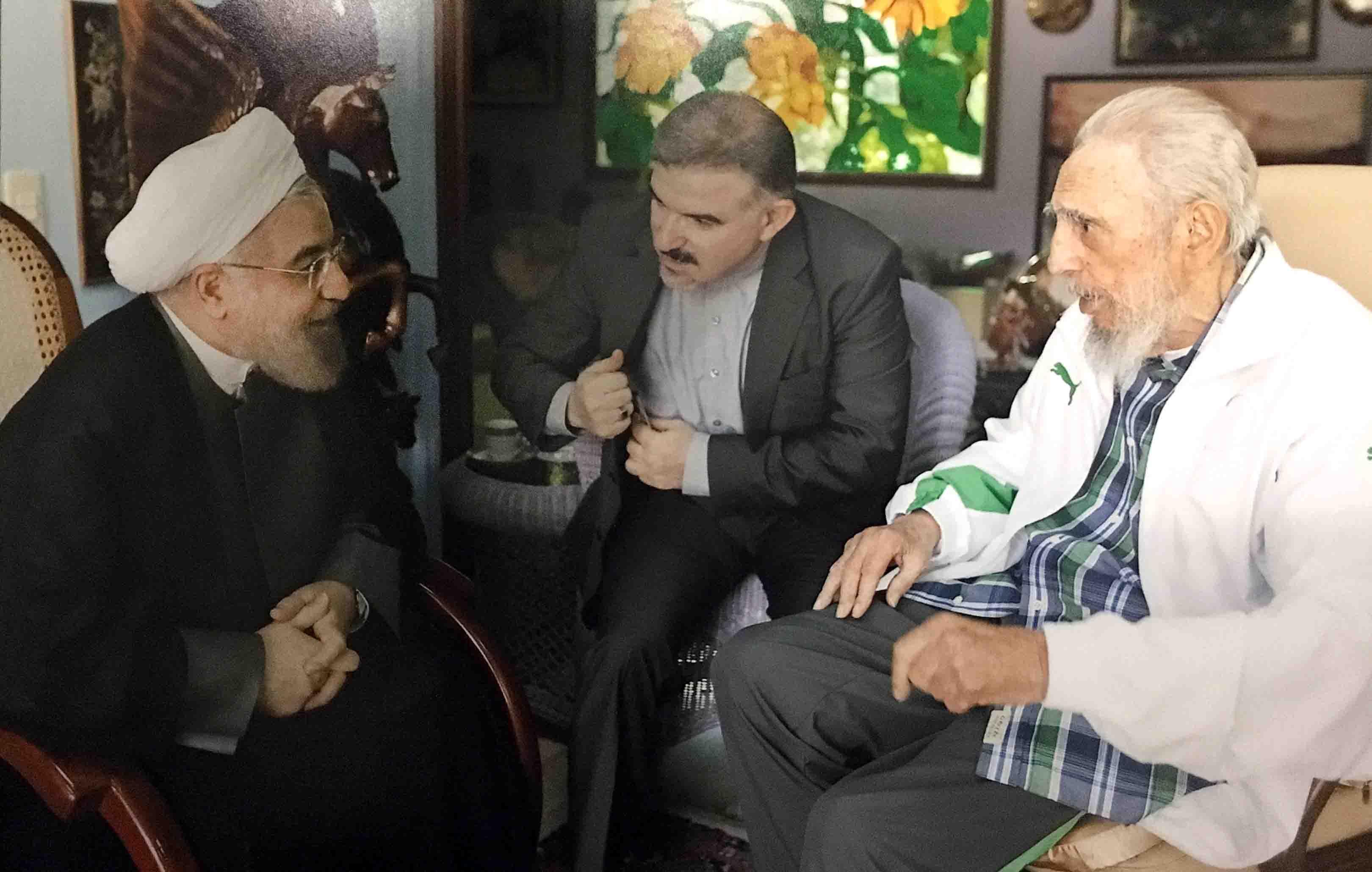 (تصاویر) دیدار روحانی با فیدل کاسترو