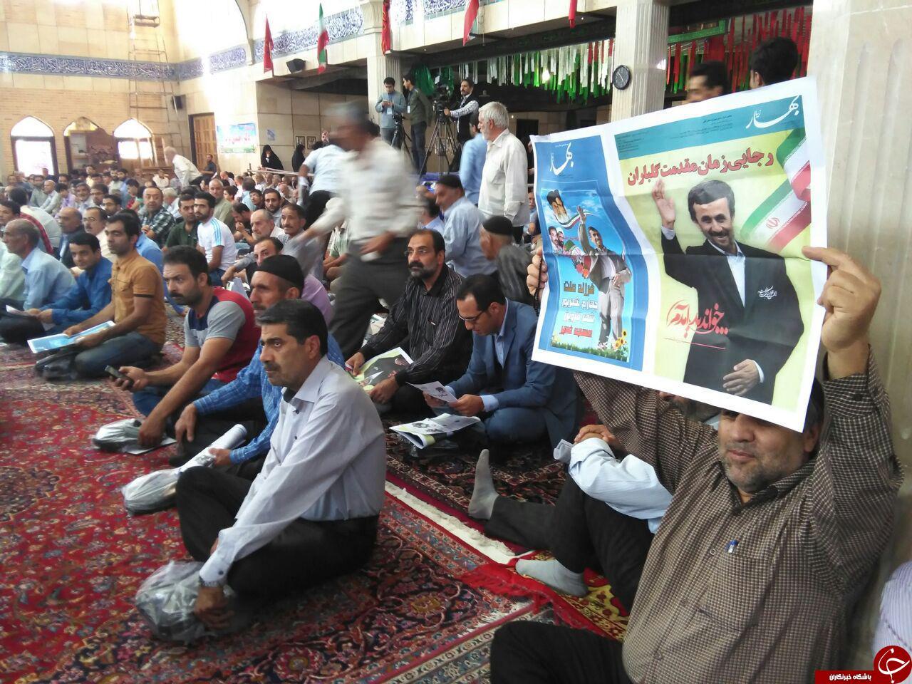 متن و حاشیه حضور احمدی نژاد در قزوین+ (تصاویر)
