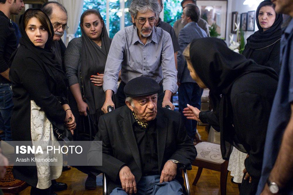 تصاویر حضور عزتالله انتظامی در منزل داود رشیدی