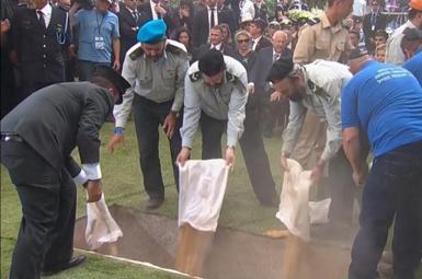 (تصاویر) جنازه شیمون پرز دفن شد