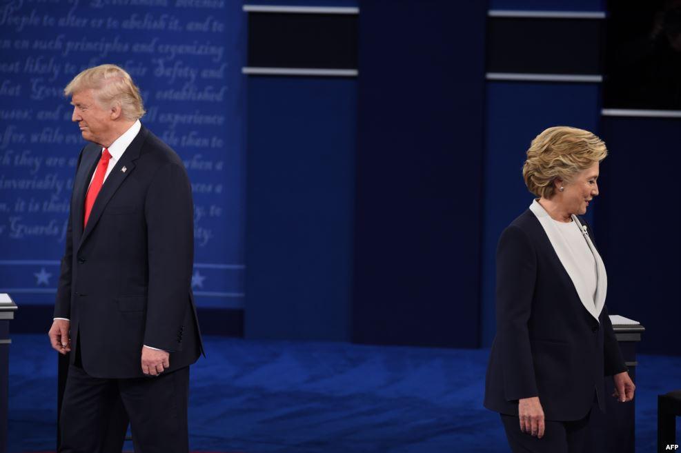تصاویر دومین مناظره کلینتون و ترامپ