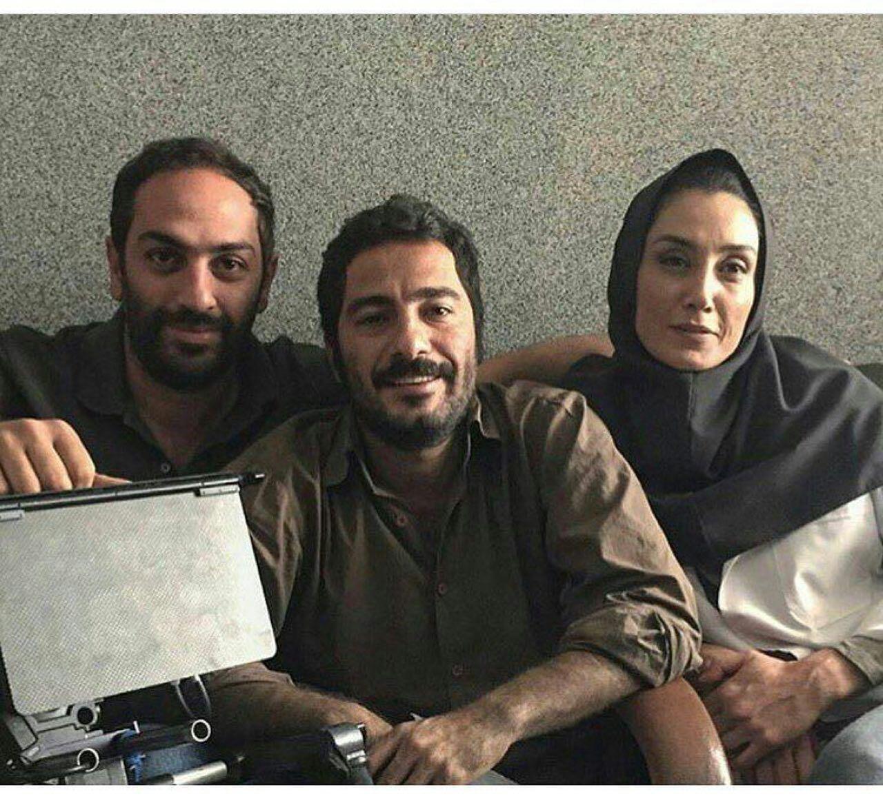 (تصویر) هدیه تهرانی و نوید محمدزاده در پشت صحنه یک فیلم