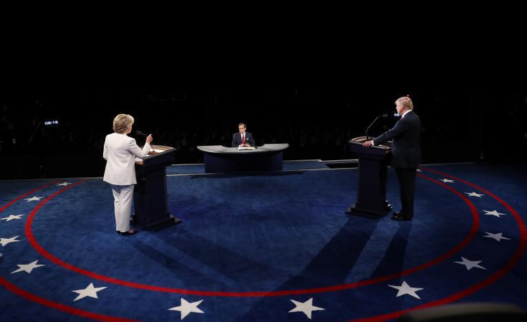 (تصاویر) آخرین مناظره کلینتون و ترامپ