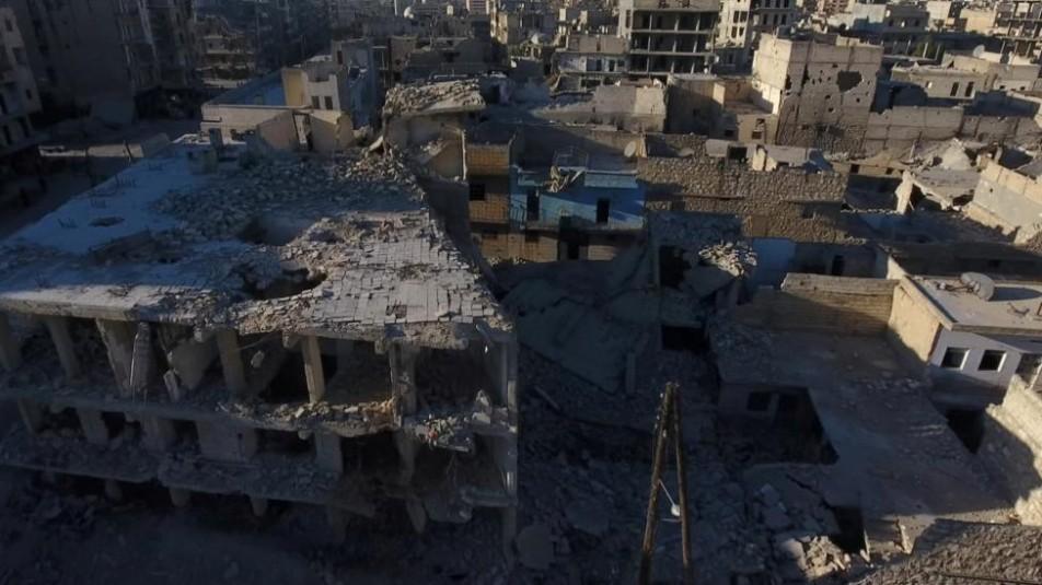 (تصاویر) ویرانیهای حلب به روایت پهباد رویترز