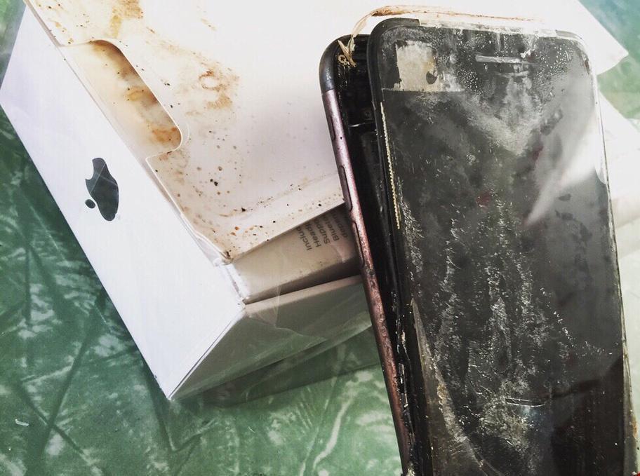 (تصاویر) انفجار آیفون 7 کاربران را نگران کرد
