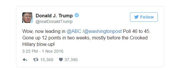 آخرین نظرسنجیها: رقابت شانه به شانه ترامپ و کلینتون
