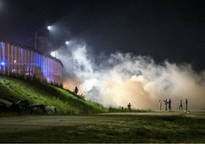 درگیری پلیس فرانسه با ساکنان اردوگاه کاله
