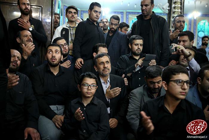(تصاویر) احمدینژاد در سالگرد شهید مدافع حرم