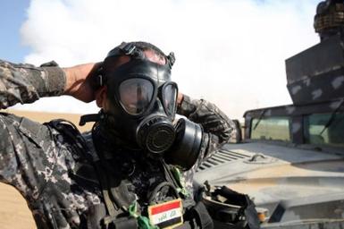 (تصاویر) انتشار گاز سمی، حربه داعش در موصل