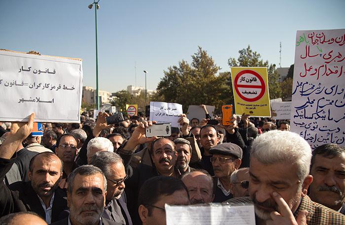 تجمع کارگران به مناسبت تصویب قانون کار +تصاویر