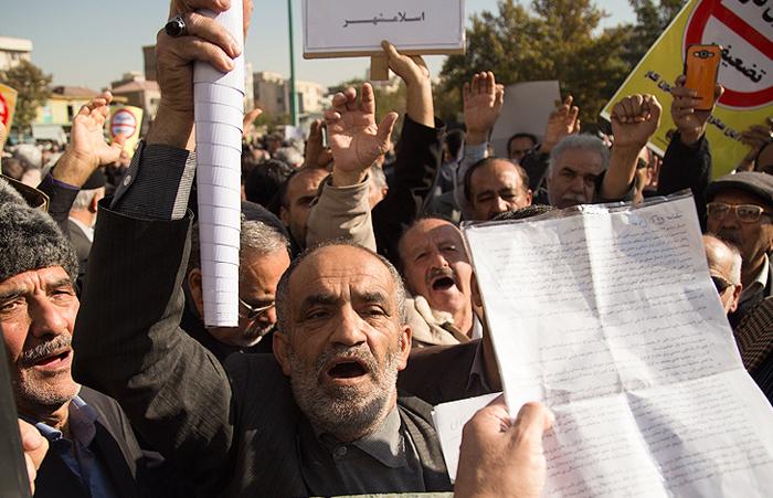 (تصاویر) تجمع کارگران مقابل مجلس