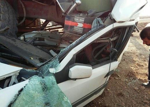 (تصاویر) تصادف مرگبار کامیون و زانتیا