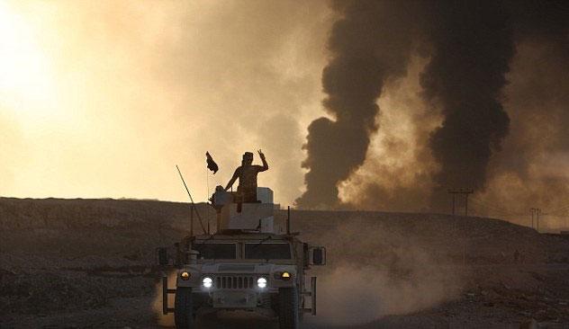 (تصاویر) تونلهای زیرزمینی داعش در اطراف موصل