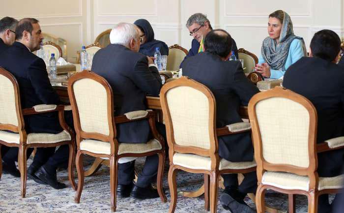(تصاویر) دیدار موگرینی با ظریف